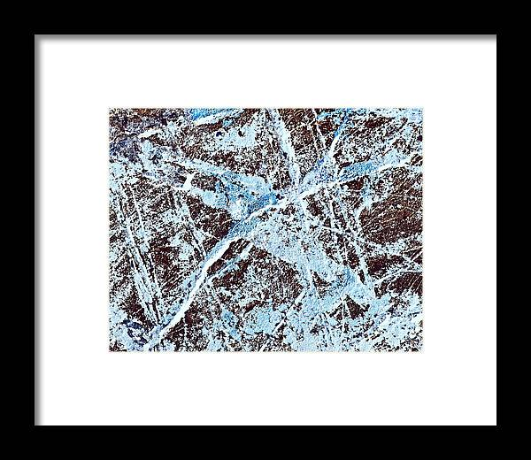 Scribble Framed Print featuring the photograph Abstract Scribble Pattern On Stone by Jozef Jankola