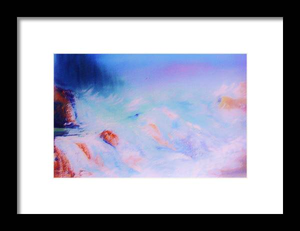 Nature Framed Print featuring the painting Abstract Sea by Lorenzo Roberts