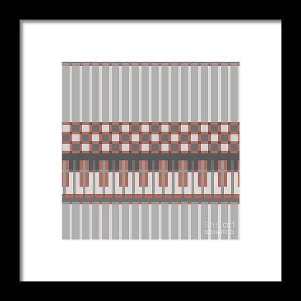 Design Carpet Framed Print featuring the digital art Abstract Seamless Pattern.vector by Iryna Kopystko