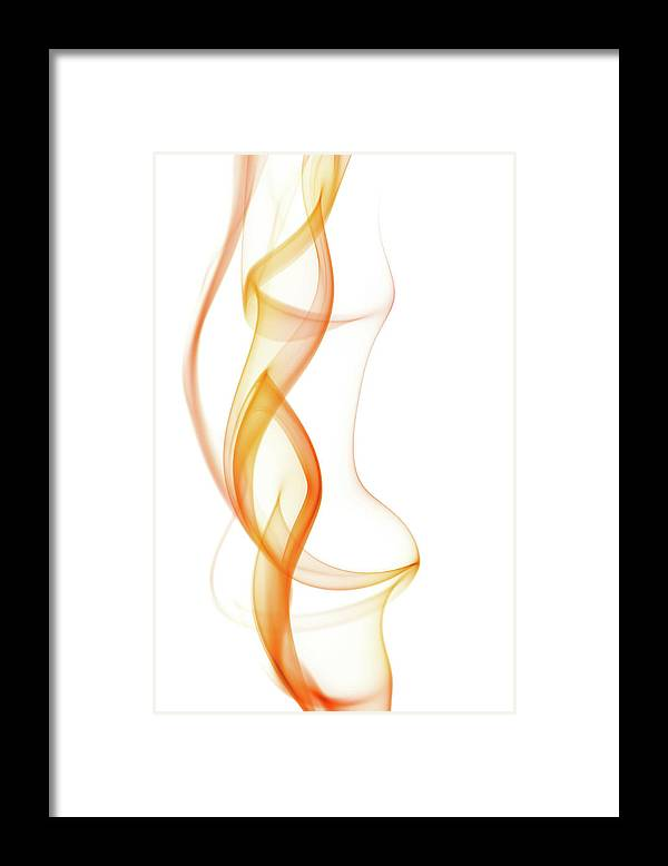 Curve Framed Print featuring the photograph Abstract Smoke by Yai112
