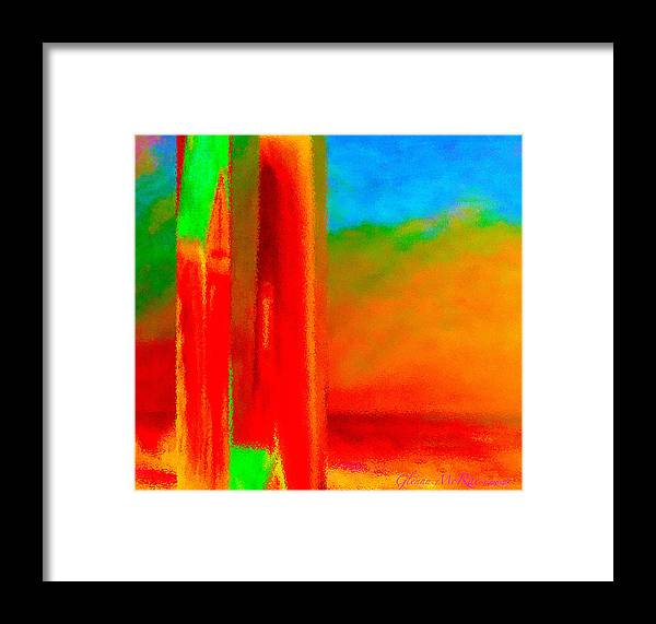 Abstract Framed Print featuring the painting Abstract Splendor II by Glenna McRae