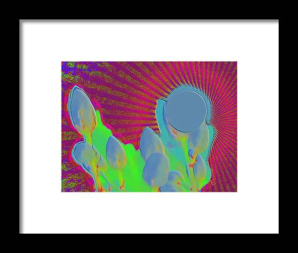 Abstract Sun Art Framed Print featuring the photograph Abstract Sun by Ernestine Manowarda