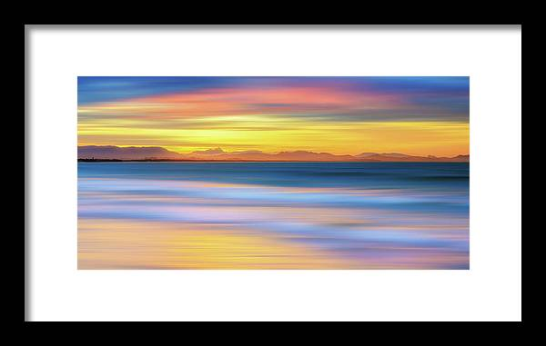 Tranquility Framed Print featuring the photograph Abstract Sunset by Andriislonchak