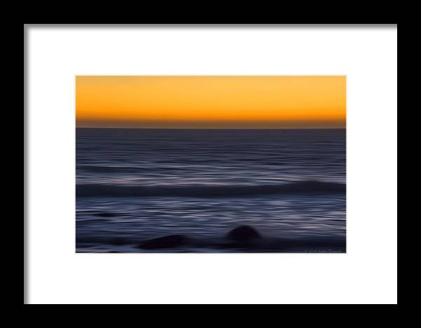 Sunset Framed Print featuring the photograph Pacific Abstract Sunset by Erika Fawcett