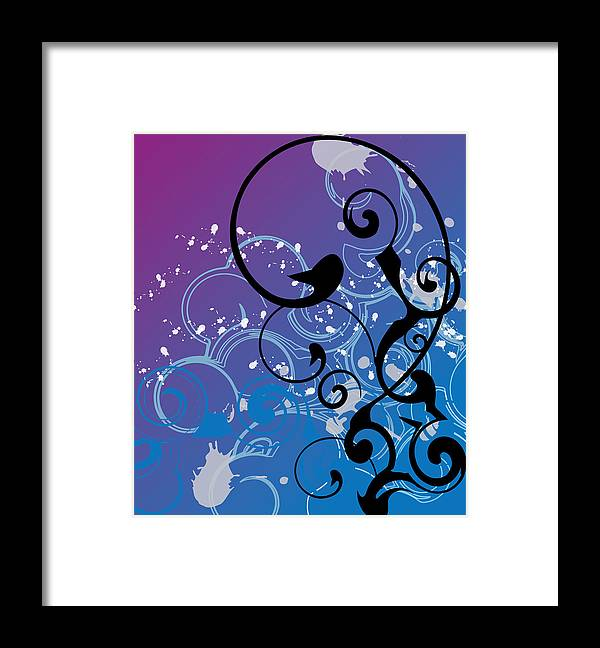 Abstract Framed Print featuring the digital art Abstract Swirl by Mellisa Ward