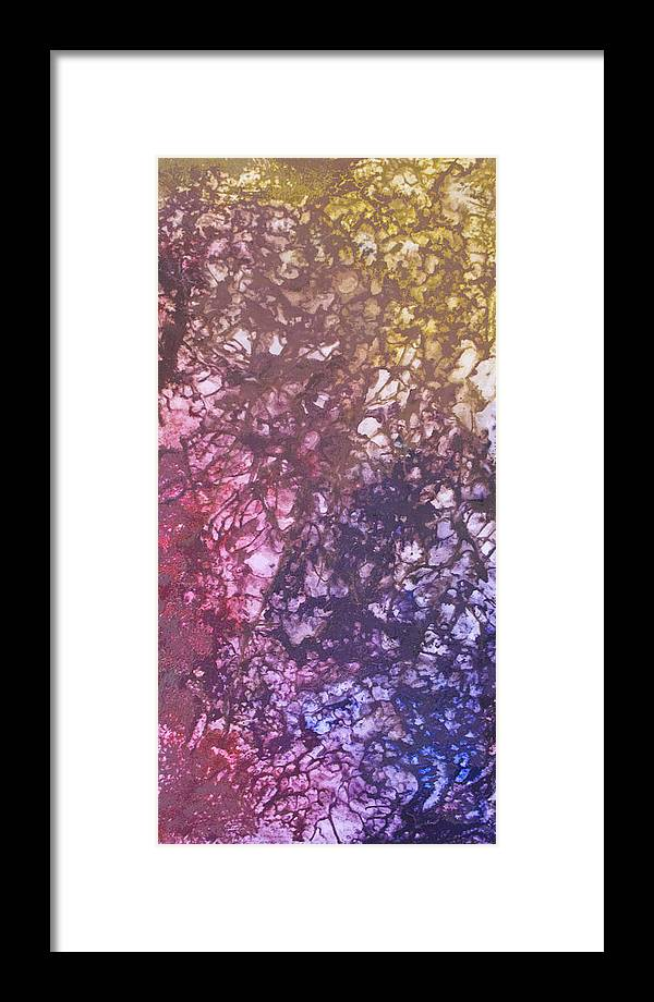 Estefan Gargost Framed Print featuring the painting Abstract Tetraptych 3 Of 4 by Estefan Gargost