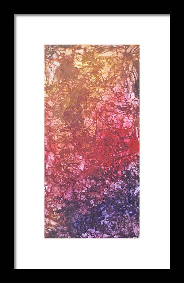 Estefan Gargost Framed Print featuring the painting Abstract Tetraptych 4 Of 4 by Estefan Gargost