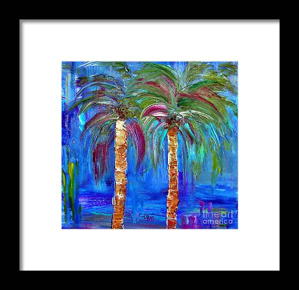Beach Framed Print featuring the painting Abstract Venice Palms by Janice Pariza