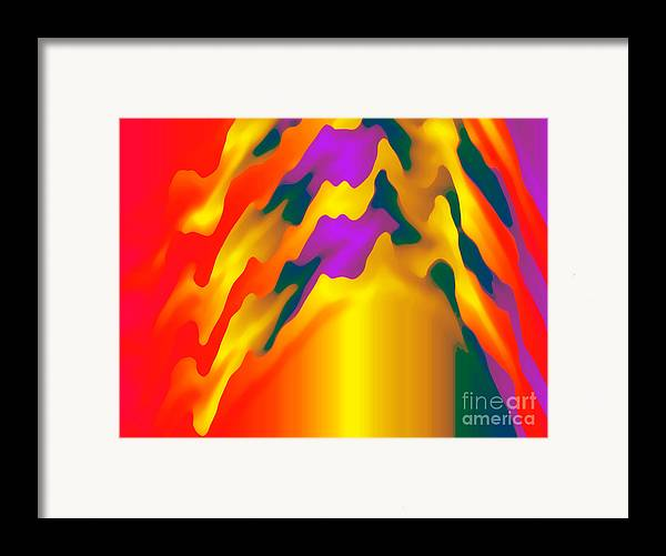 Abstract Framed Print featuring the digital art Abstract Wonder 2 by Gayle Price Thomas