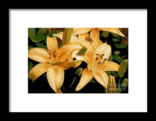 Lily Framed Print featuring the photograph Abstract Yellow Asiatic Lily - 1 by Kenny Glotfelty