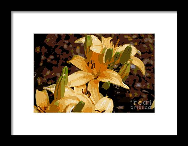 Lily Framed Print featuring the photograph Abstract Yellow Asiatic Lily - 2 by Kenny Glotfelty