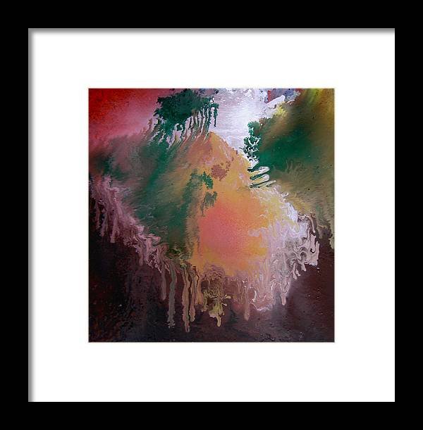 Abstract Framed Print featuring the painting Abstract2 by Min Zou