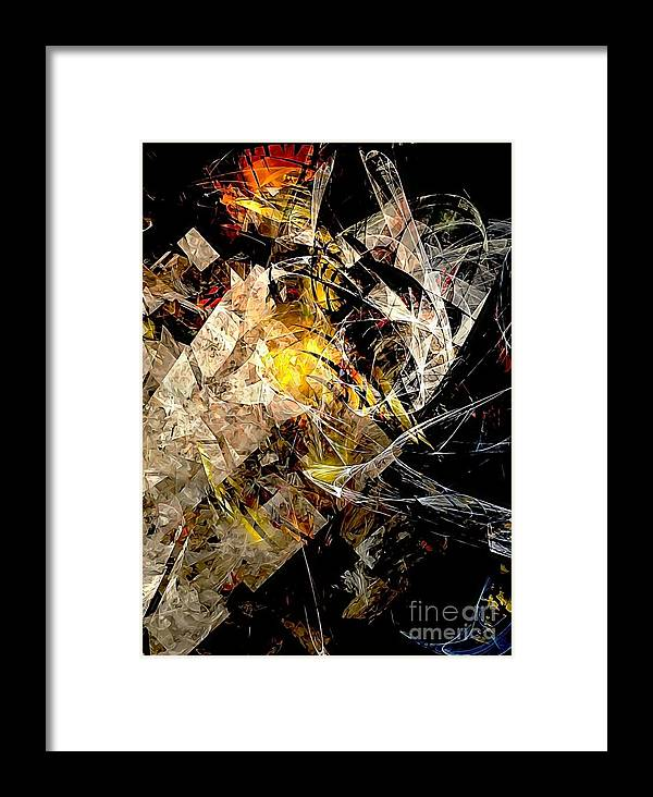 Graphics Framed Print featuring the digital art Abstraction 0576 - Marucii by Marek Lutek