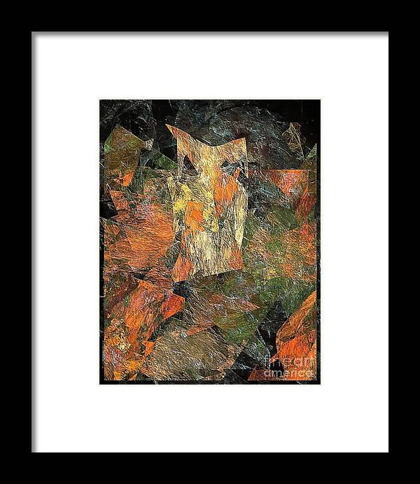 Graphics Framed Print featuring the digital art Abstraction 0585 Marucii by Marek Lutek