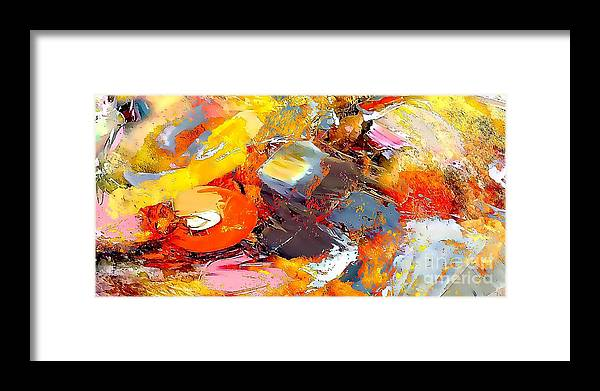 Abstract Framed Print featuring the painting Abstraction 586-11-13 Marucii by Marek Lutek