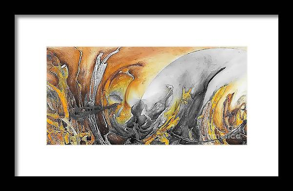 Abstract Framed Print featuring the painting Abstraction 587-11-13 Marucii by Marek Lutek