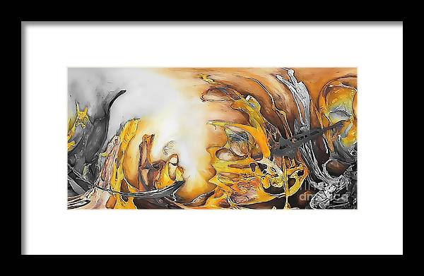 Abstract Framed Print featuring the painting Abstraction 589-11-13 Marucii by Marek Lutek