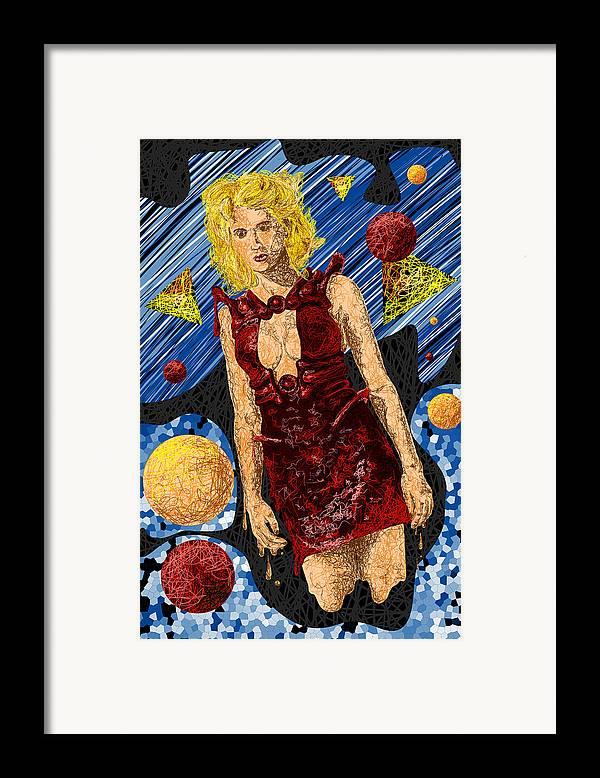 Fashion Art Framed Print featuring the digital art Abstraction De Richters Numero Deux by Kenal Louis
