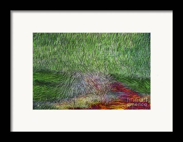 Abstract Framed Print featuring the digital art Abstraction Of Life by Deborah Benoit