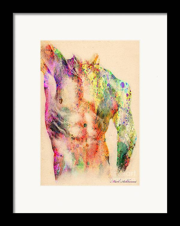 Male Nude Art Framed Print featuring the digital art Abstractiv Body by Mark Ashkenazi