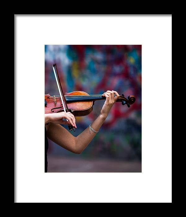 Abstract Framed Print featuring the photograph Abstracts From Vivaldi - Featured 3 by Alexander Senin