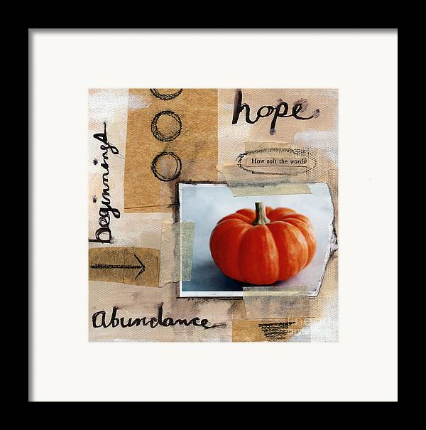 Pumpkin Framed Print featuring the painting Abundance by Linda Woods