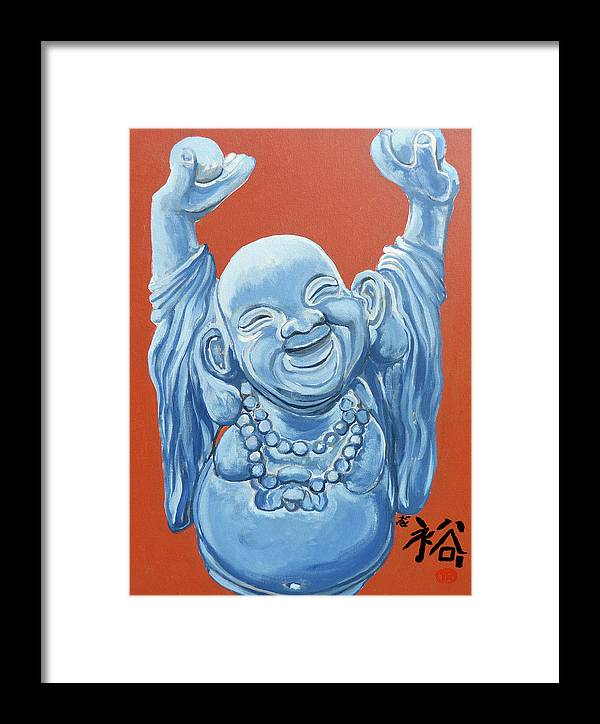 Buddha Framed Print featuring the painting Abundance by Tom Roderick