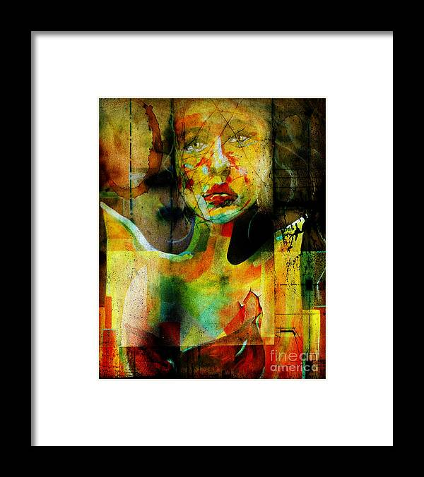 Women Framed Print featuring the painting Abused And Stained by Hope Mastroianni