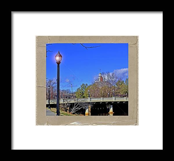 Bridges Framed Print featuring the photograph Academy Street Bridge by Larry Bishop