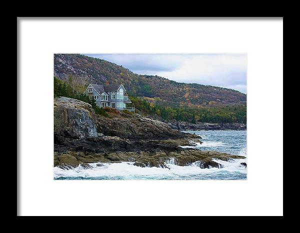 Maine Framed Print featuring the photograph Acadia Seaside Mansion by Stuart Litoff