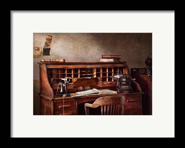 Accountant Framed Print featuring the photograph Accountant - Accounting Firm by Mike Savad
