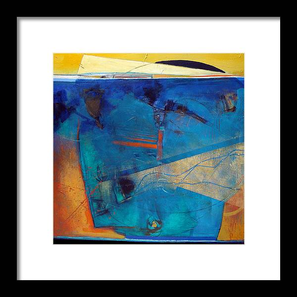 Abstract Framed Print featuring the painting Acknowledgement by Dale Witherow