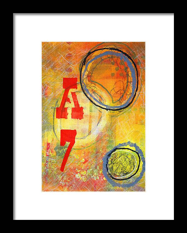 Acronym Abstract Painting Framed Print featuring the painting Acronym by Nancy Merkle