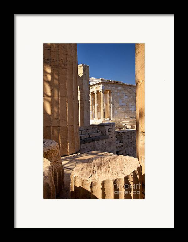 Acropolis Framed Print featuring the photograph Acropolis Temple by Brian Jannsen