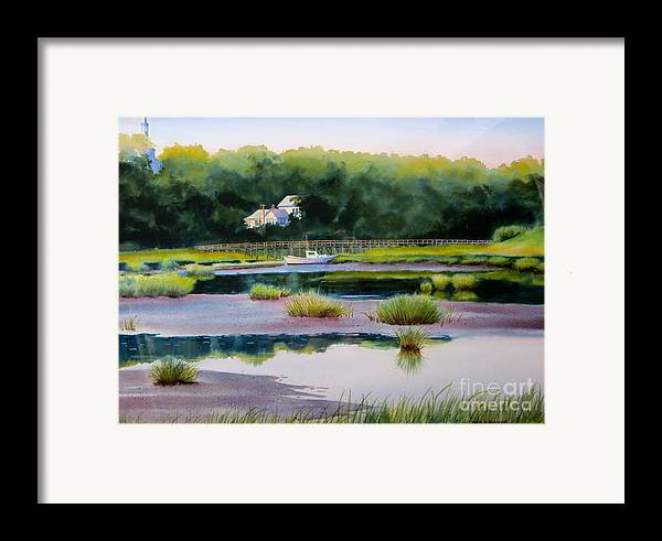 House Framed Print featuring the painting Across Duck Creek by Karol Wyckoff