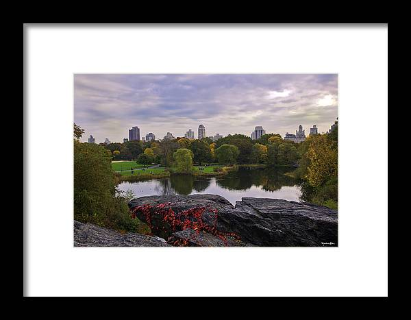 Central Park Framed Print featuring the photograph Across The Pond 2 - Central Park - Nyc by Madeline Ellis