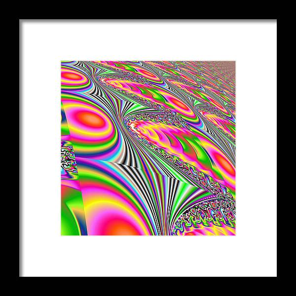 Abstract Framed Print featuring the digital art Active by John Holfinger