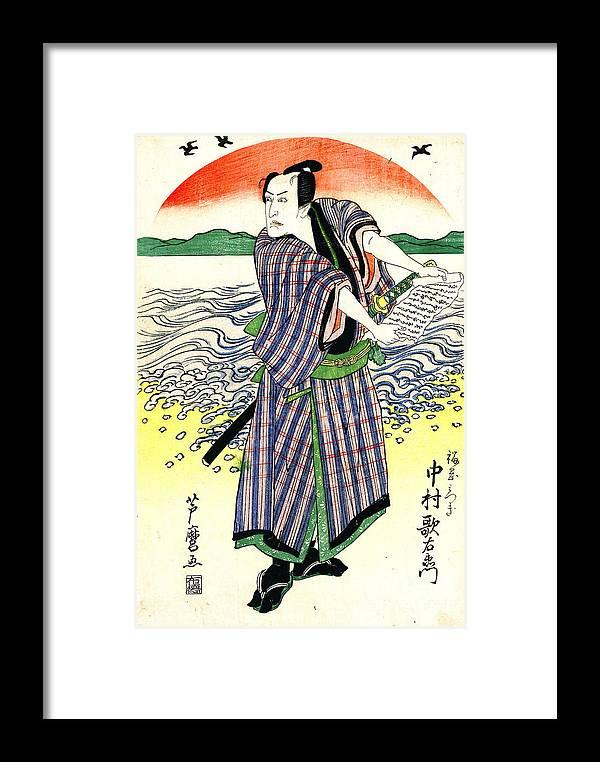 Actor Nakamura Utaemon 1813 Framed Print featuring the photograph Actor Nakamura Utaemon 1813 by Padre Art