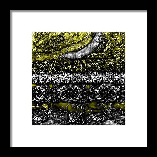 Black Gold Framed Print featuring the digital art Acuma by Joyce Rogers