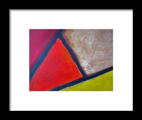 Abstract Framed Print featuring the painting Acute by Rhodes Rumsey