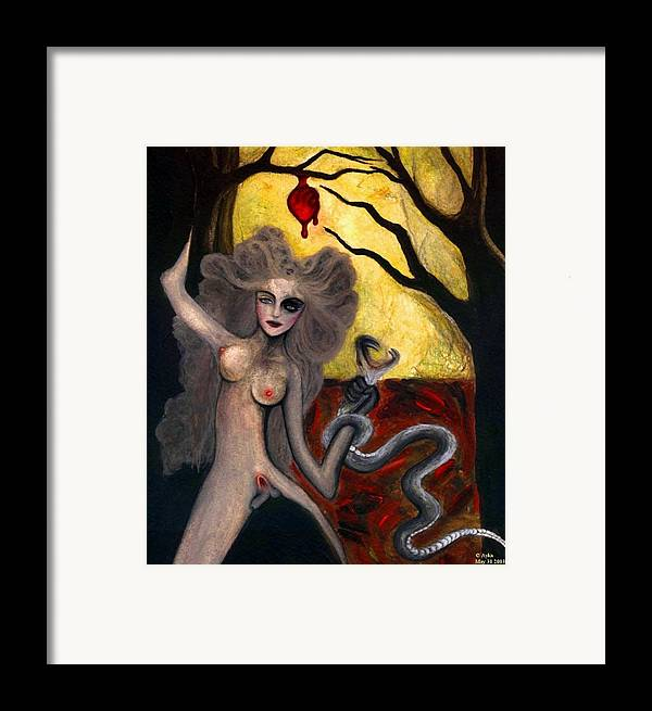 Aykaayka.com Framed Print featuring the painting Adam And Eve by Ayka Yasis