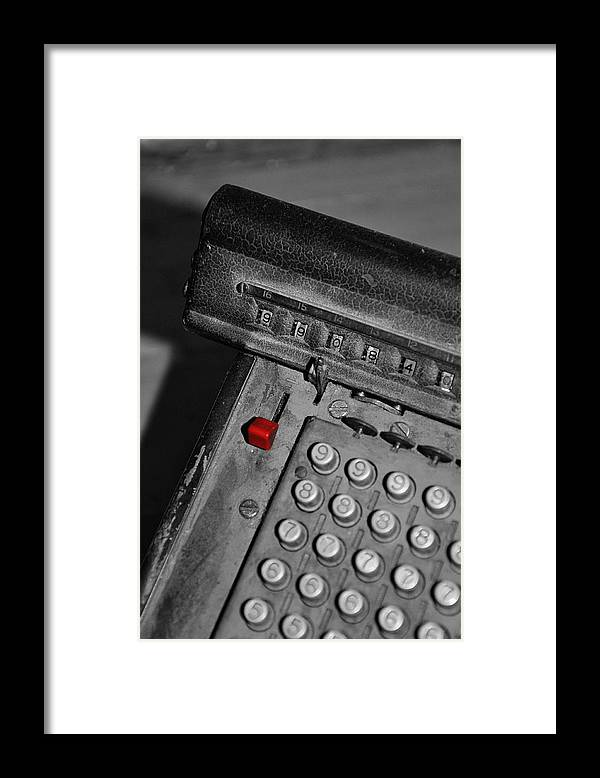 Office Framed Print featuring the photograph Adding Machine Three by Todd Hartzo