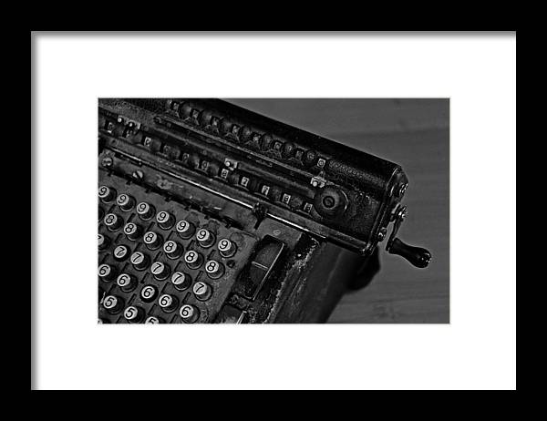 Office Framed Print featuring the photograph Adding Machine Two by Todd Hartzo