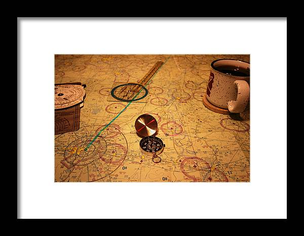 Map Framed Print featuring the photograph Adventure Planning by Robert Allen