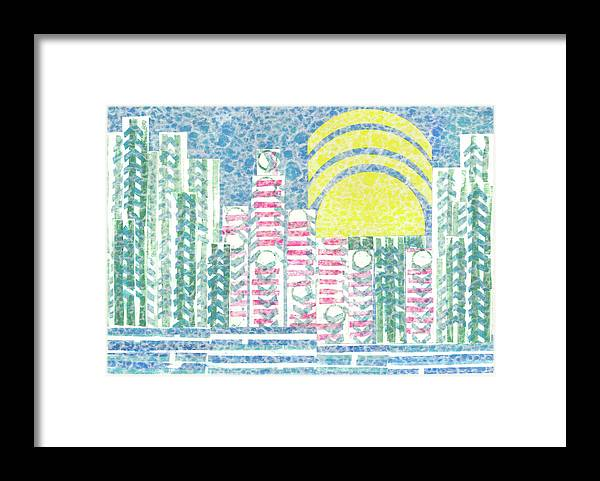 Cities Framed Print featuring the mixed media Cloud City by Strangefire Art    Scylla Liscombe