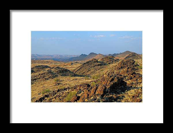 Scenics Framed Print featuring the photograph African Scenery by Vittorio Ricci - Italy