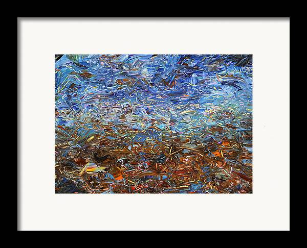 Landscape Framed Print featuring the painting After A Rain by James W Johnson