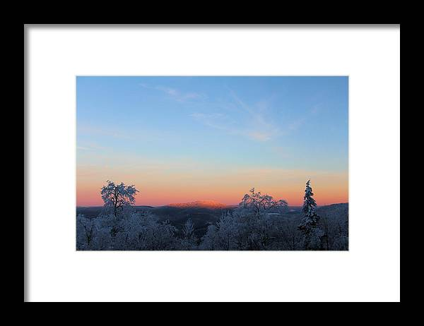 Sunset Framed Print featuring the photograph After Glow by Carolyn Postelwait