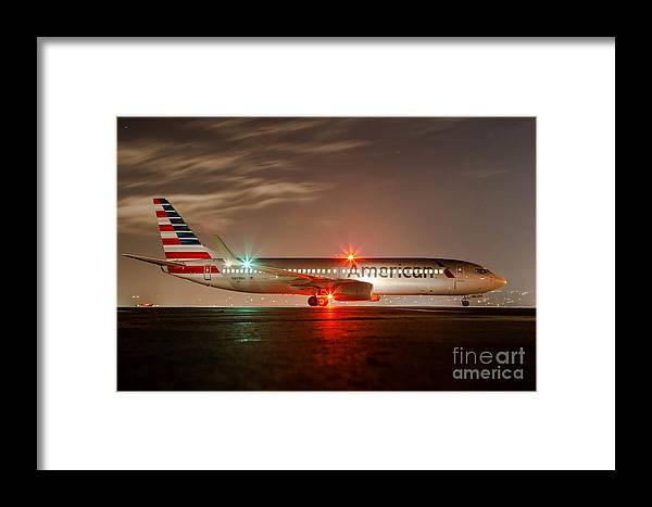 Boeing. 737 Framed Print featuring the photograph After Hours by Alex Esguerra