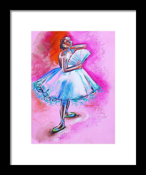 Degas Framed Print featuring the painting After Master Degas Ballerina With Fan by Susi Franco